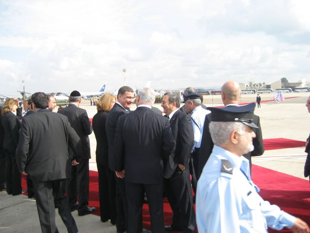 Israeli Leaders at Bush Welcoming