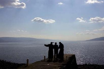 Bush overlooking the Sea of Galilee from Capernum
