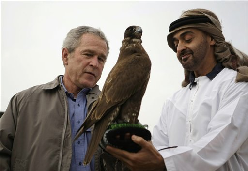 Bush with the Crown Prince of Adu Dhabi