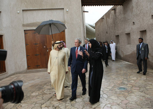 Bush tours cultural center in Dubai -01-15-08