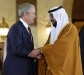Bush shakes hands with United Arab Emirates President - 1-16-08