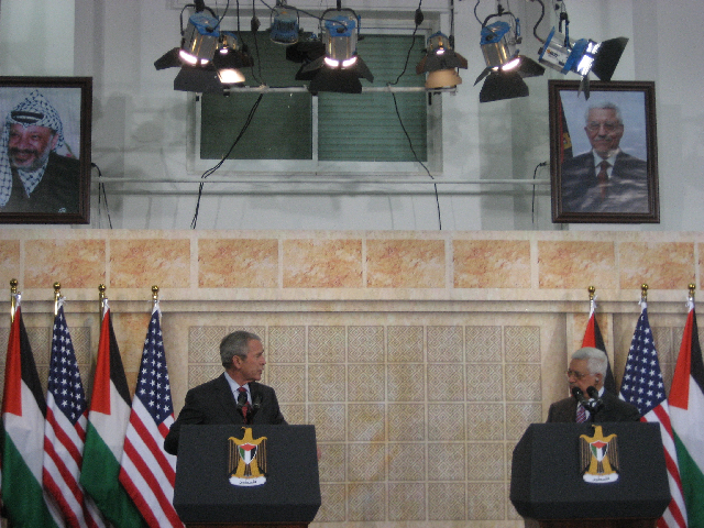 Bush and Abbas in Ramallah - 01-10-08